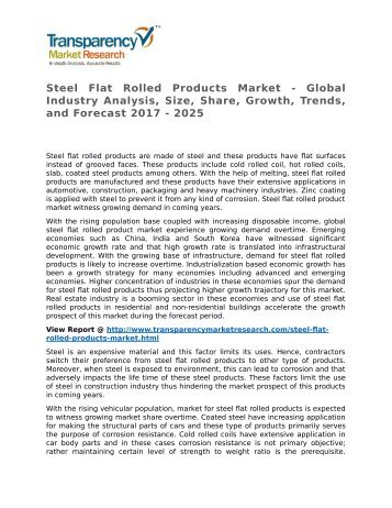 Steel Flat Rolled Products Market - Global Industry Analysis, Size, Share, Growth, Trends, and Forecast 2017 - 2025