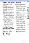 Sony DSC-WX5 - DSC-WX5 Consignes d'utilisation Polonais - Page 3