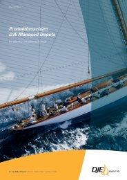 Produktbroschüre DJE Managed Depots - DJE Kapital AG