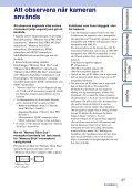 Sony DSC-WX5 - DSC-WX5 Consignes d'utilisation Suédois - Page 3