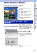 Sony DSC-WX5 - DSC-WX5 Consignes d'utilisation Norvégien - Page 2