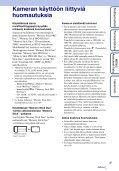 Sony DSC-WX5 - DSC-WX5 Consignes d'utilisation Finlandais - Page 3