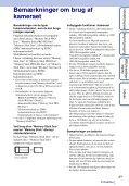 Sony DSC-WX5 - DSC-WX5 Consignes d'utilisation Danois - Page 3