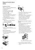Sony HDR-XR550E - HDR-XR550E Consignes d'utilisation Danois - Page 2