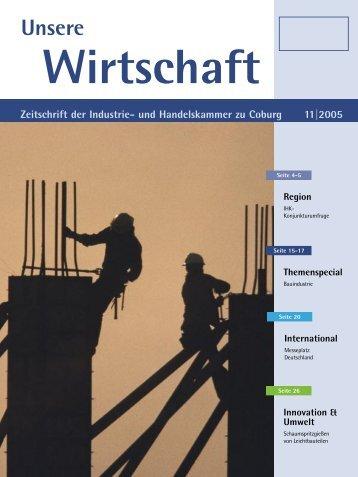 Unsere Wirtschaft 11_2005.indd - Industrie und Handelskammer zu ...