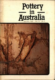 Pottery In Australia Vol 19 No 2 November-December 1980