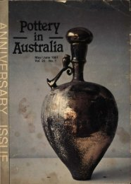 Pottery In Australia Vol 20 No 1 May-June 1981