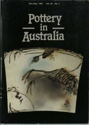 Pottery In Australia Vol 20 No 2 November December 1981
