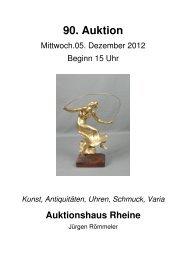 90. Auktion - Auktionshaus Rheine