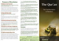 Brochure - The Quran – The Final Revelation