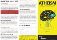 Brochure - Atheism - An Islamic Perspective