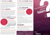 Brochure - Misconceptions About Islam