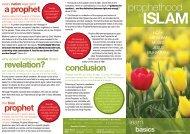 Brochure - Prophet hood in Islam