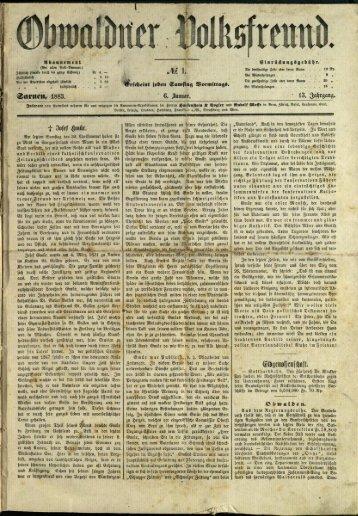 Obwaldner Volksfreund 1883