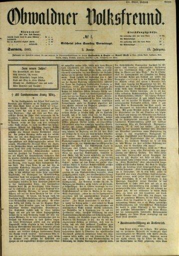 Obwaldner Volksfreund 1885