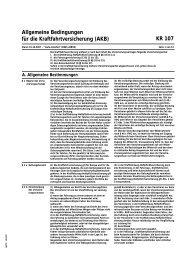 Allgemeine Bedingungen für die Kraftfahrtversicherung (AKB) KR 107