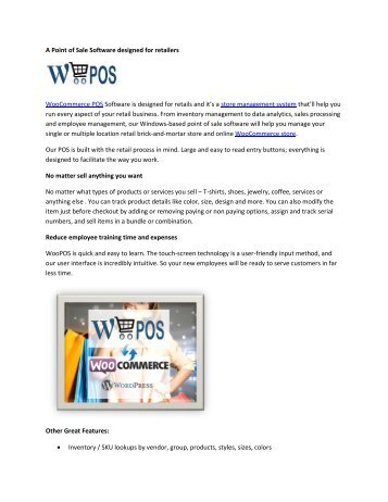 WooCommerce Inventory Management for Retailers   WooCommerce POS Software   WooPOS USA