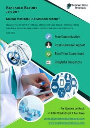Global Portable Ultrasound Market Research Reports at MarektDataForecast.com
