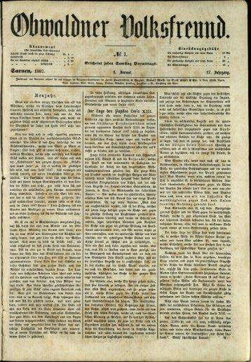 Obwaldner Volksfreund 1887