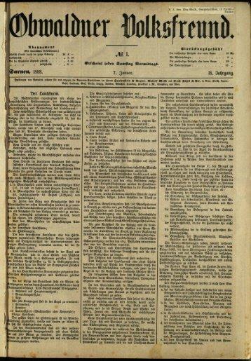 Obwaldner Volksfreund 1888