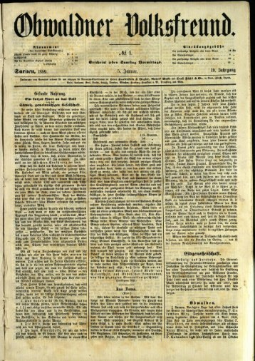 Obwaldner Volksfreund 1889