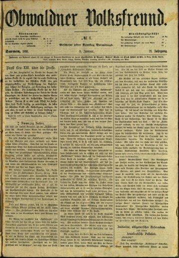 Obwaldner Volksfreund 1891