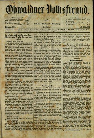 Obwaldner Volksfreund 1892