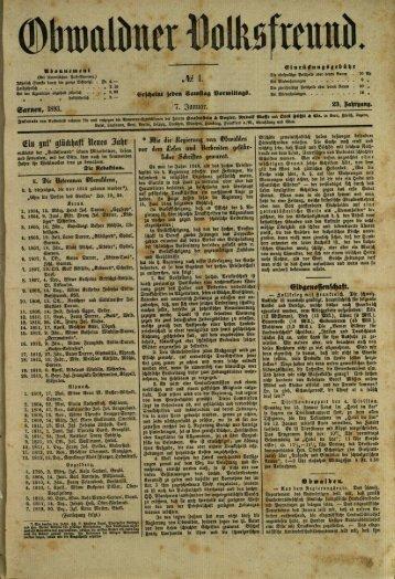 Obwaldner Volksfreund 1893