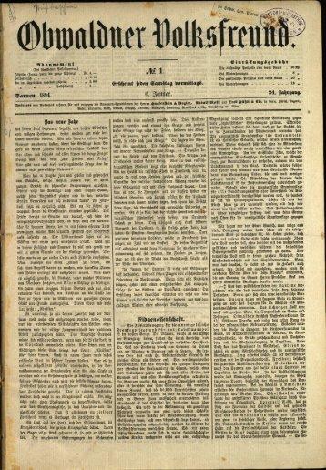 Obwaldner Volksfreund 1894