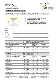 Geld Zurück Option - VUV GmbH