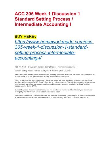 intermediate accounting i week 1 Study flashcards on acc 306 week 5 (intermediate accounting ii - entirecoursecom) at cramcom quickly memorize the terms, phrases and much more cramcom makes it easy to get the grade you want.