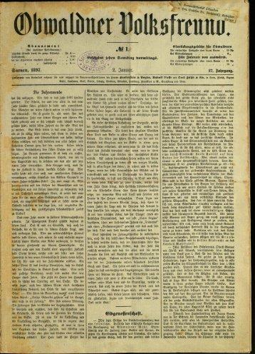 Obwaldner Volksfreund 1897