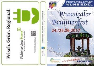 Programm zum Wunsiedler Brunnenfest 2017