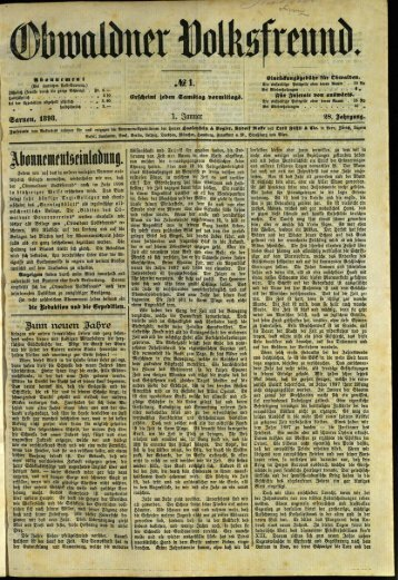 Obwaldner Volksfreund 1898