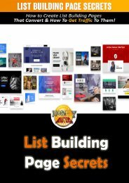 List Building Page Secrets