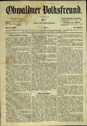 Obwaldner Volksfreund 1900