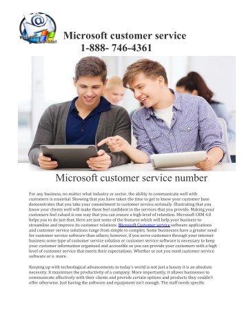 Microsoft customer service 1-888-746-4361