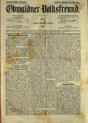 Obwaldner Volksfreund 1901