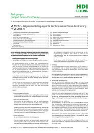 Allgemeine Bedingungen für die Verbundene Firmen-Versicherung