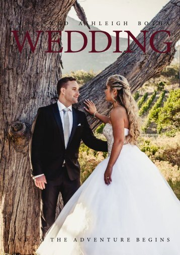 Emile and Ahleigh Wedding magazine