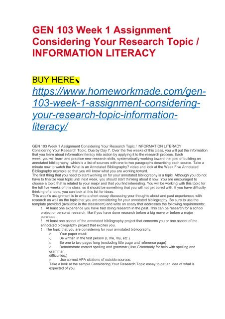 essay about information literacy