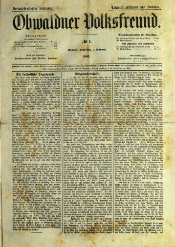 Obwaldner Volksfreund 1903