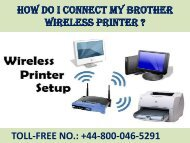 How do I Connect my Brother Wireless Printer