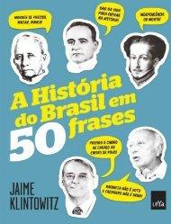 A Historia do Brasil em 50 Fras - Jaime Klintowitz
