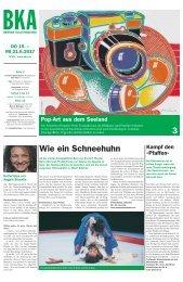 Berner Kulturagenda 2017 N° 23