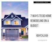 7 Ways To Do Home Remodelling On A Budget