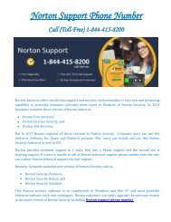 Norton support phone number 1-844-415-8200