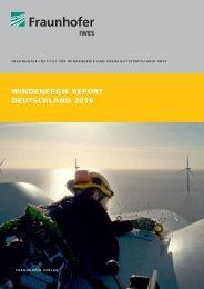 Windenergie Report Deutschland 2016