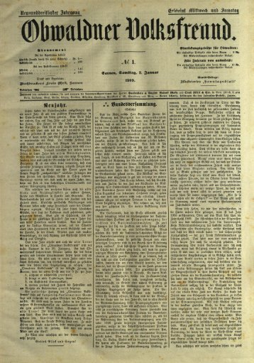Obwaldner Volksfreund 1909
