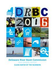 Clean Water By The Numbers, The DRBC 2016 Annual Report
